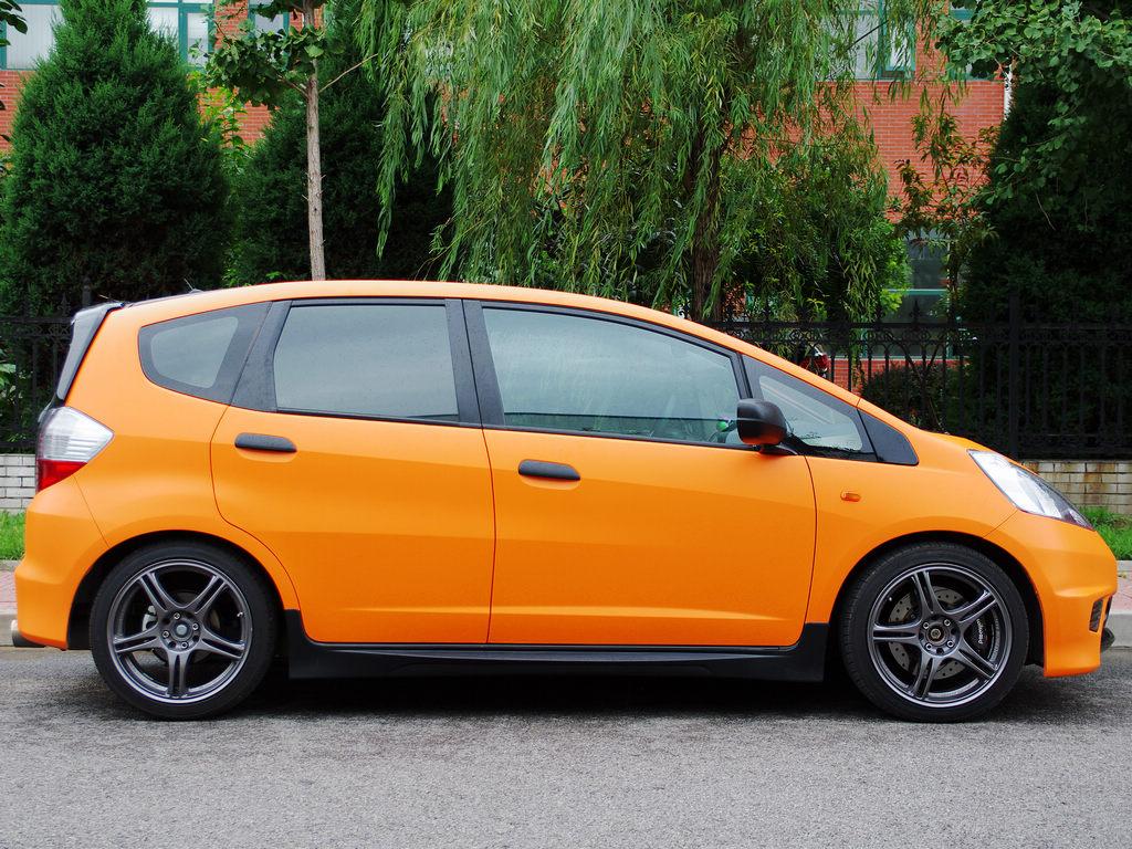 飞度记 —— 全车颜色改橙 黑搭配,终于上了17寸轮毂 (大图5p)